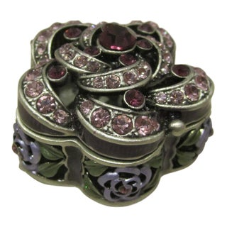 Bejeweled Floral Trinket Case