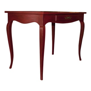 Red Henredon Writing Desk