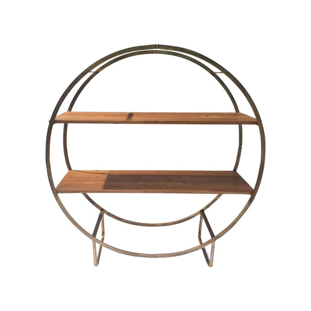 Image of Two Tiered Bronze-Tone Circular Shelf