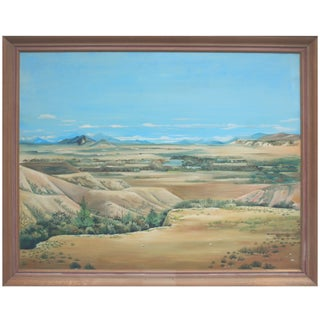 Desert & Sky Oil by Joan Dunbar