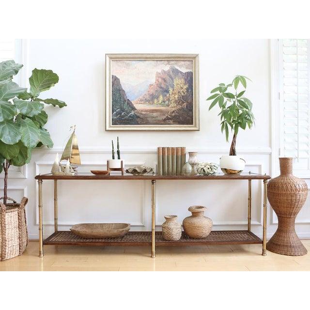 Vintage Oversized Wicker Urn or Vase - Image 3 of 8
