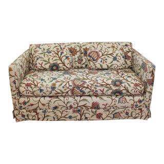Mid-Century Modern Floral Sofa Settee