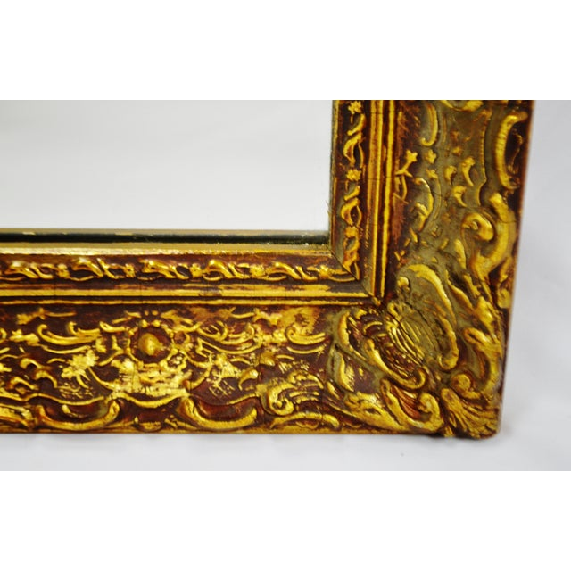 Vintage 1964 Gold Gilt Gesso Framed Wall Mirror - Image 7 of 9