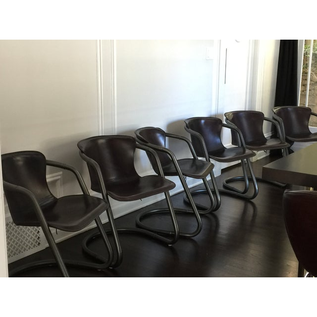 Image of Duke Leather Accent Chairs - Set of 6