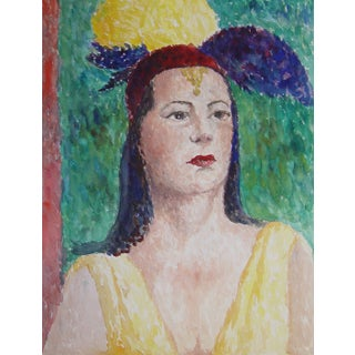 Woman With Hat Watercolor