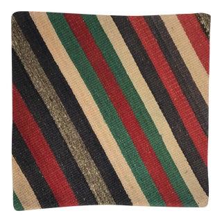 Turkish Wool Kilim Rug Fragment Pillow