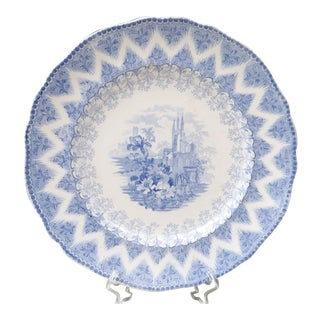 Antique Samuel Alcock Vandyke Dinner Plate