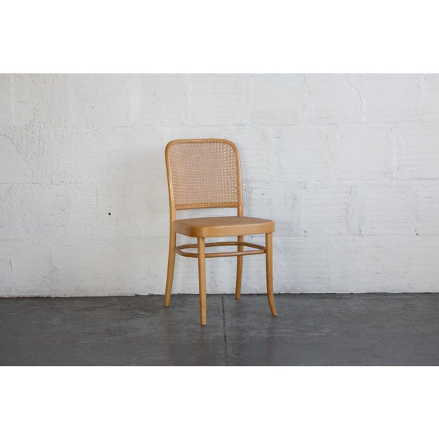 Prauge Cane Bentwood Woven Side Chairs - Set of 4 - Image 10 of 11