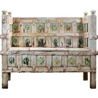 Cascade Hand-Painted Wooden Storage Bench