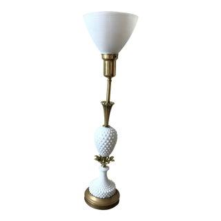 Vintage Stiffel Hollywood Regency Brass & Ivory Torchere Lamp
