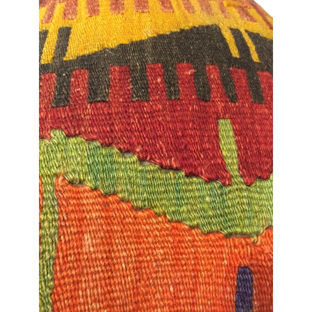 Antique Turkish Kilim Pillow Covers - Pair - Image 6 of 6