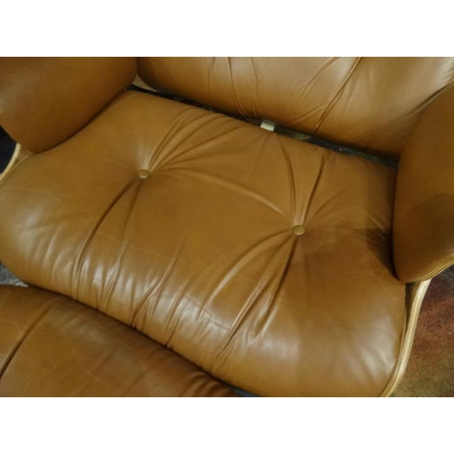 Eames Style Recliner and Ottoman - Image 6 of 6