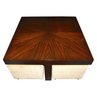 Henredon Crossroads Cocktail Table with Ottomans