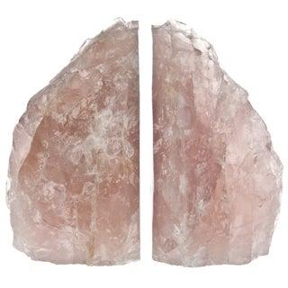 Rose Quartz Bookends - Pair