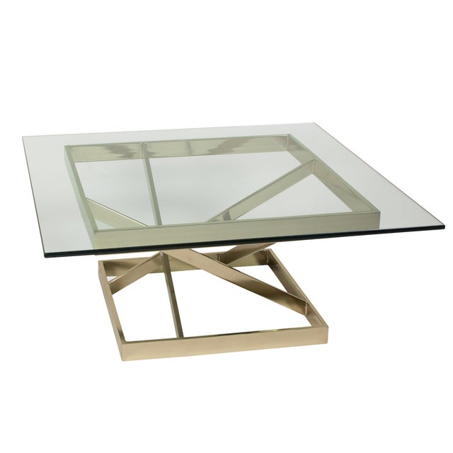 1980s Intersecting Angles Coffee Table - Image 2 of 9