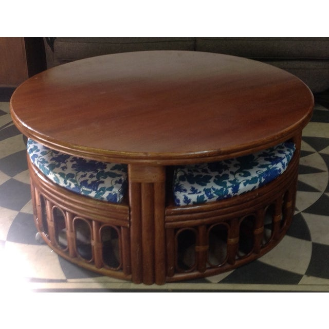 1940's Bamboo Game Table Dining Set - Image 3 of 8