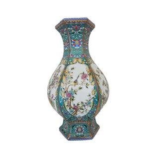 Famille Lucky Blue Porcelain Vase