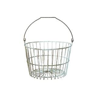 Rustic Metal Handled Basket