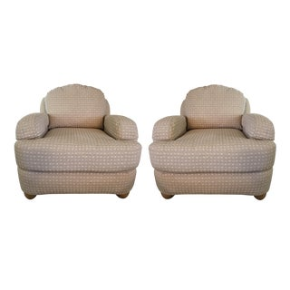 Ethan Allen Neutral Chairs - A Pair