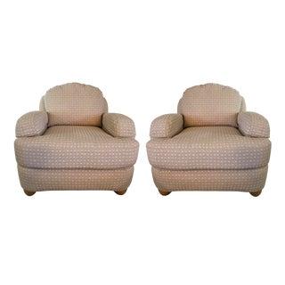 Ethan Allen Neutral Chairs - A Pair