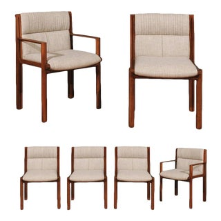 Exceptionally Rare Set of Six Dining Chairs by Saladino for Baker, circa 1985