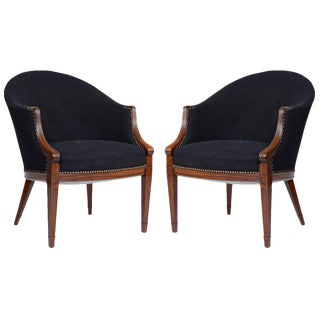 Pair of Frits Henningsen Lounge Chairs
