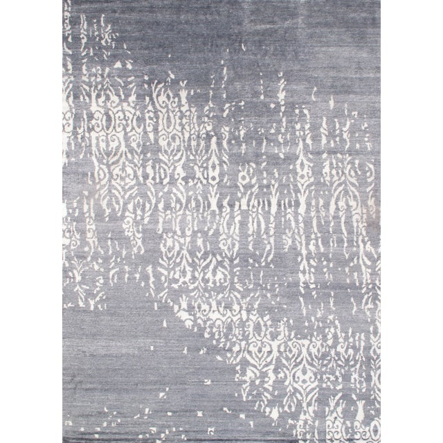 "Contemporary Viscose Silk Rug - 9' X 12'2"" - Image 1 of 2"