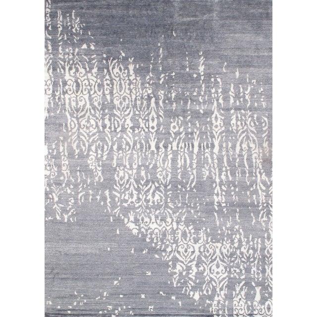 "Image of Contemporary Viscose Silk Rug - 9' X 12'2"""