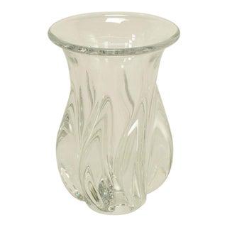 1970s Sevres Spiral Body Crystal Vase.