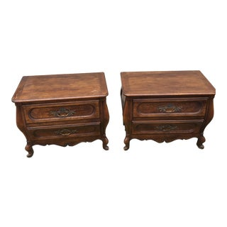 Vintage Baker Bombay Style End Tables - A Pair