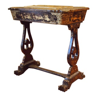 Chinoiserie Decorated Sewing Table