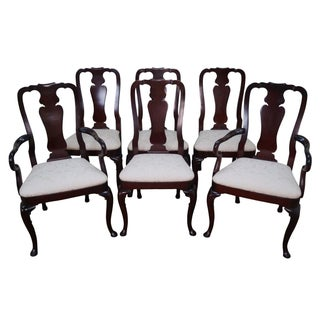 Kindel Queen Anne Mahogany Dining Chairs - Set of 6