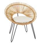 Image of Mid-Century Style Wicker Hoop Chair