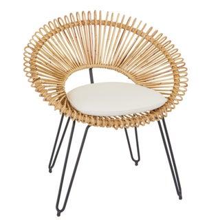 Mid-Century Style Wicker Hoop Chair