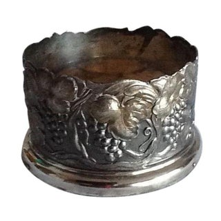 Vintage Silver Plate Wine Bottle Coaster