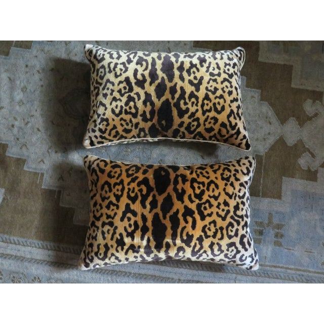 Scalamandre Leopard Silk Velvet Pillows - A Pair - Image 2 of 3