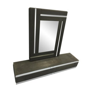 Vulcanized Chrome Mirror With Console