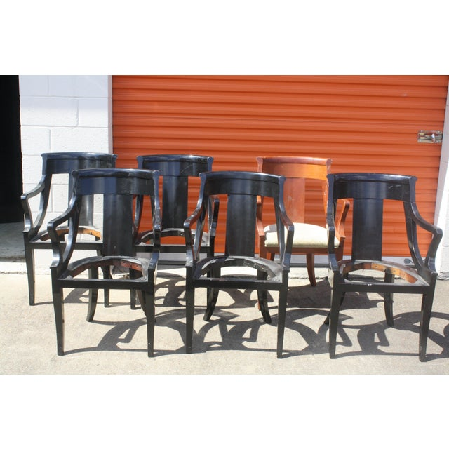 Image of Baker Dining Armchairs - Set of 6