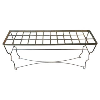 Sculptural Iron & Glass Console Table