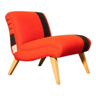 50's Hudson's Bay Blanket Slipper Chair