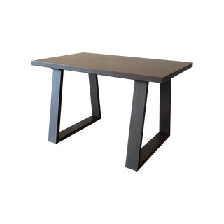 DWR Dark Wood Trapeze Desk