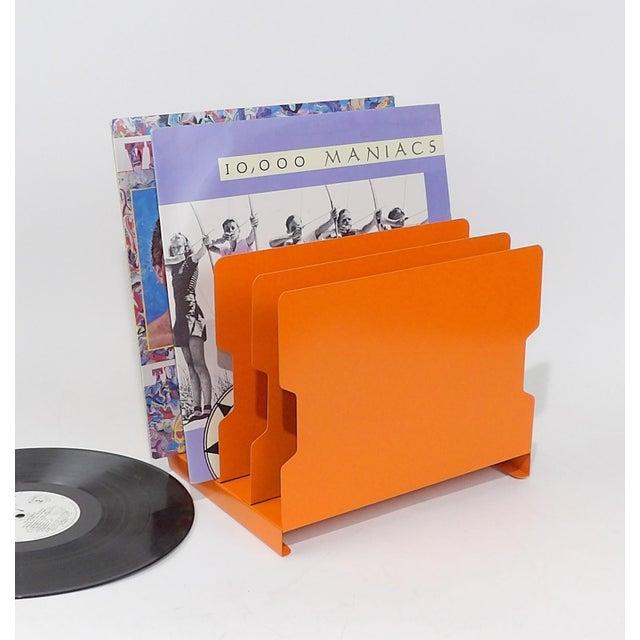 Orange Metal Desk Organizer - Image 4 of 9