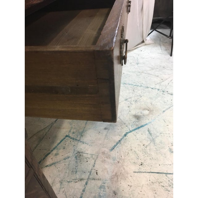 19th-C. English Oak Map Chest Desk - Image 7 of 9