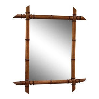 Vintage French Bamboo Mirror