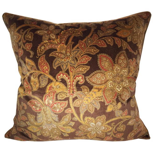 Schumacher Corsini Velvet Paisley Pillow - Image 1 of 2