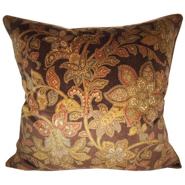 Image of Schumacher Corsini Velvet Paisley Pillow