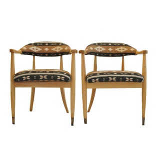Mid-Century Walnut Accent Chairs- A Pair