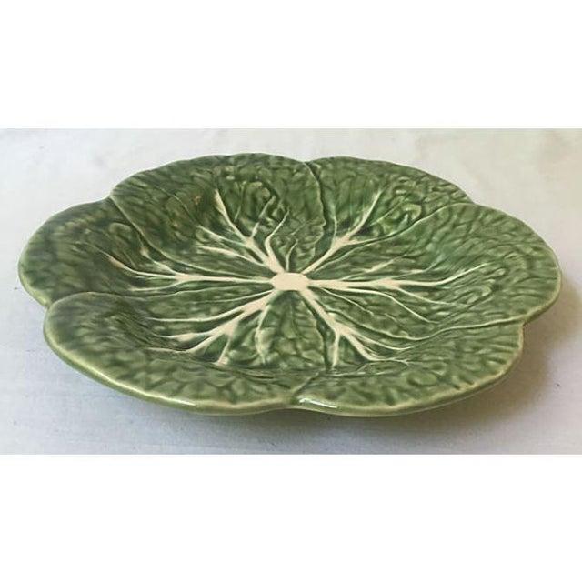 Vintage Green Cabbage Leaf Serving Plate - Image 4 of 5