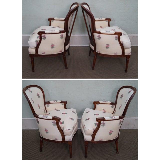 Kravet Mahogany French Louis XVI Chairs - Pair - Image 3 of 10
