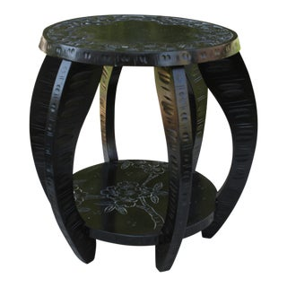 Vintage Asian Ebony Low Stool